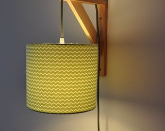 square lamp  - wall lamp - geometrical forms - yellow and black - design - bedside lamp