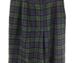 Pendleton Authentic Blackwatch Tartan Size 15 Lined Shorts Vtg 70's Pure Wool US
