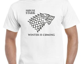 T-shirt inspired in Games Of Thrones, House Stark, Winter Fell, Winter is coming