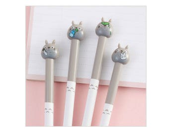Totoro Pens, Super Cute Gel Style Writing, Stationary, School Supplies