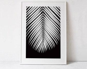 Tropical Leaf Print, Tropical Plant Print, Leaf Poster PRINTABLE Art, Palm Leaf Art Print, Botanical Print, Digital Print DOWNLOADABLE PRINT