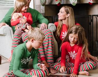 Personalized Family Christmas Pajamas - Stripe Pajamas - Matching Pajamas - Personalized Christmas PJs - Childrens PJs