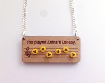 Legend of Zelda Zelda's lullaby necklace - Ocarina of Time - Nintendo 64 - Old school - Geek and cute