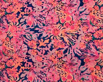 SWIRLING SEADREAM RESORT  2017 18x18 or 18x9  inches Lilly Fabric Pulitzer Out