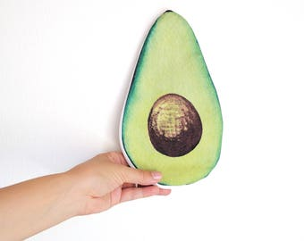 AVOCADO : Avocado purse, Avocado Bag, Avocado vanity, funny gift Idea,  tropical fruit bag