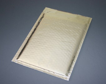 20 6x9 SILVER Metallic Bubble Mailers Size 0 Self Sealing Shipping Envelopes