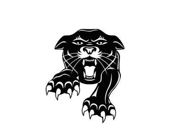 Panthers Mascot Football high school college SVG File Cutting, DXF, EPS design, cutting files for Silhouette Studio and Cricut Design space