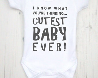 Cutest Baby Ever bodysuit. Baby boy clothes, baby girl clothes, baby clothes, baby boys clothing, baby girls clothing, coming home outfit