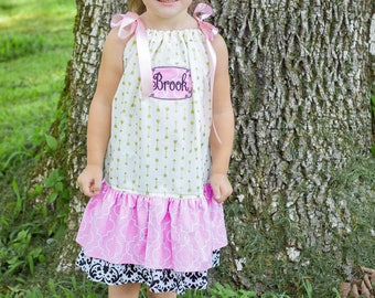 Girls ruffle dress, boutique ruffle dress, girls dress, family photo outfit, family photo shoot dress, girls photo shoot outfit