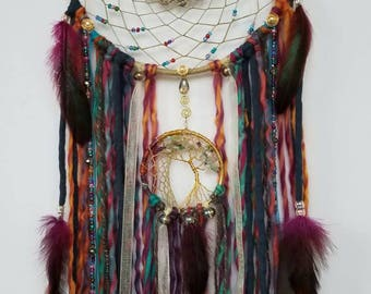 Bohemian Inspired/Tree of Life Dream Catcher/Wall Hanging/Hippy Decor