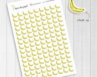 Banana Stickers, Fruit Meal Planner Small Stickers
