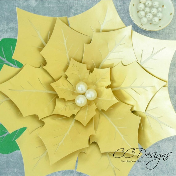 Giant paper poinsettia flowers paper flowers printable flower il570xn mightylinksfo