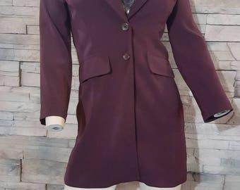 Willy wonka jacket/Johnny Depp/burgundy vintage jacket/4 piece costume