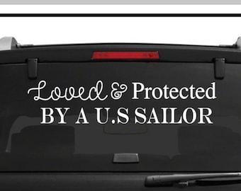 sailor decal-support sailors decal-sailor car decal-navy parent car decal-armed forces decal-navy stickers