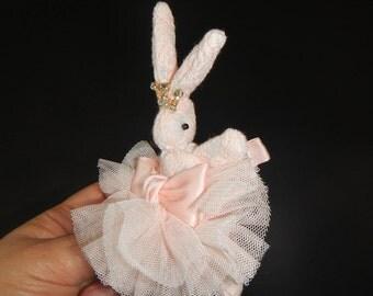 Rabbit Hair Clip, Rabbit Hair Bow, Girls Hair Clip, Baby Hair Clip, Hair Accessories