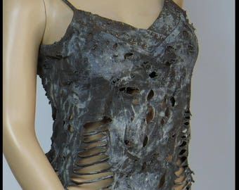 Post APOCALYPTiC TOP Mad Max Top Fallout LARP Top Brown Size MEDIUM