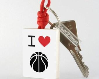 """Porte-Clé Sport """"I love basket-ball"""""""