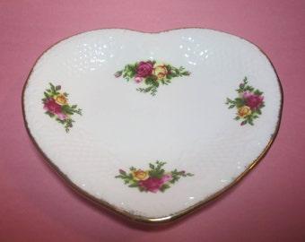 Vintage Royal Albert Heart Shaped Dish