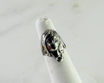 Portrait Sterling Ring Size 5.25