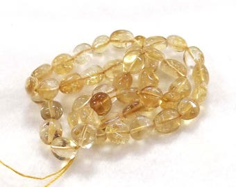 "15"" Strand Beautiful Natural Citrine Gemstone Beads 9mm x 12mm with 1mm Hole"