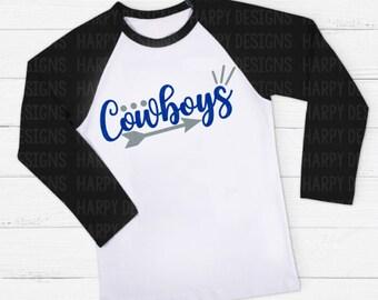 Cowboys SVG, Football SVG, College Football SVG, Cricut Cut Files, Silhouette Cut Files