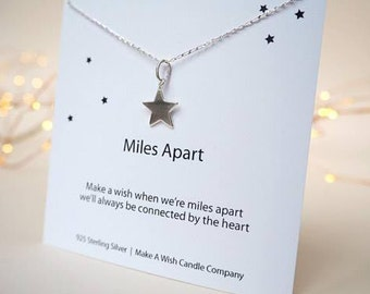 Going Away Gift For Travellers, Long Distance Love, Best Friend Necklace, Missing You Gift, Miles Apart Gift, Long Distance Gift,