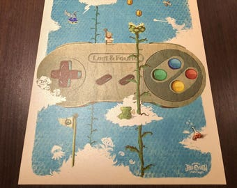 Lost & Found - Super Nintendo pop art SNES videogame retro gaming geek art