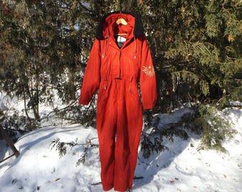 Womens Ski Suit 90s Snowsuit Vintage Ski Clothing One Piece Skisuit Snowsuit Vintage Metropolis Skiing Snowboarding Winter Womens Size Large