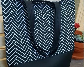 Tote bag/ cotton bag/ market bag/ beach bag/ gift for her/ day bag/ book bag/ library bag/ hand bag/ black bag/ purse