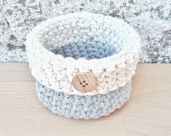 Small storage, crochet basket, miniature basket, small basket, cute basket, storage basket, housewarming gift, home decorations, decor