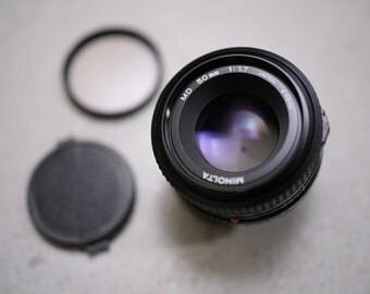 MINOLTA 50mm f/1.7 MD| Standard KIT Lens | See description for lens rating