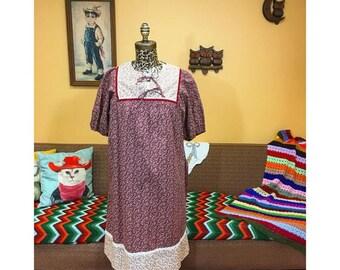 Vintage 70's JCPenney Prairie Inspired Dress