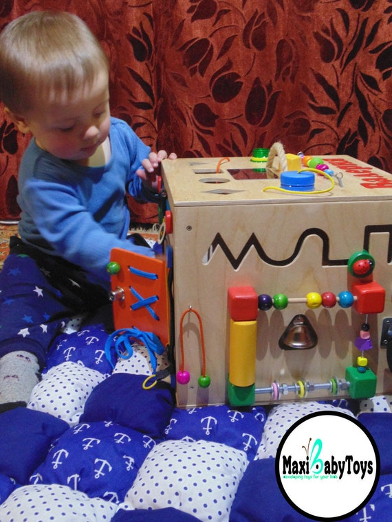 Personalized montessori toy busy board baby sensory board like this item negle Choice Image
