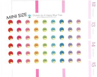 Happy MINI Don't Forget Reminder Stickers for Erin Condren Life Planner ECLP Mambi Kate Spade Kikkik Personal Kawaii Cute Errands Shopping