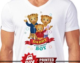 DIY Printable Daniel Tiger Iron On Transfer, Daddy of the Birthday Girl, Daniel Tiger Party, Daniel Tiger Birthday, Daniel Tiger T-shirt