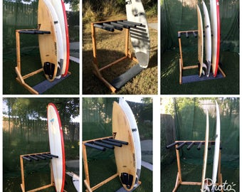 Free standing surf rack