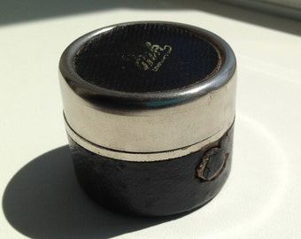 Black and silver Antique Travelling inkwell