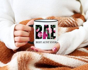 BAE Mug, Best Aunt Ever Mug, Personalized Mug, Gift For Aunt, Birthday Gift, Funny Coffee Mugs, Cute Mug, Christmas Gift For Aunt