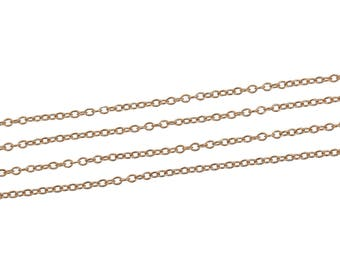 Fine copper chain golden color with 5 m of 2 x 1, 5mm