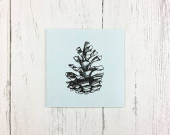 Pine Cone Card / Mothers Day Card / Birthday Card / Invitation Card / Thank You Card / Card for Friends / Card for Family