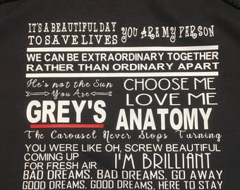 Grey's anatomy sweatshirt, grey anatomy unisex hoodie, gift for her, wife sister, best friend, Meredith and Christina, birthday gift