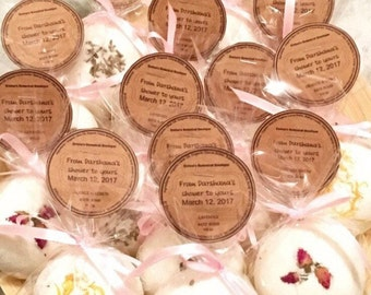 25 Bath Bomb Bridal Shower, Baby Shower Favors,Wedding favours , Aromatherapy Bath Fizzy, Party Favours,