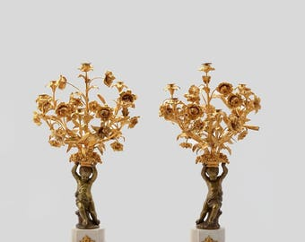 A Pair of Candelabra Louis XVI Style
