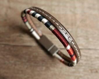 Husband gift,  Boyfriend bracelet, Boyfriend gift, Anniversary gift, Gift for him, Mens bracelet, Cuff bracelet, Leather Bracelet, Christmas
