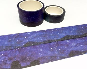 star night washi tape 5mx3cm starry star beautiful night wide tape sticker tape night landscape photography decor countryside night scenery
