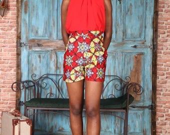 Samba red short