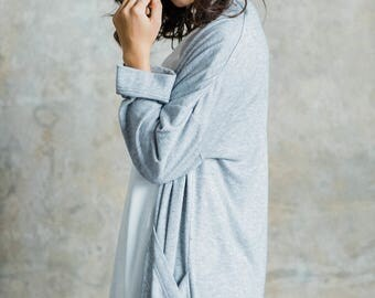 Nora Cardigan- Comfortable Long Cardigan with oversized pockets, wide sleeves and cashmere feel