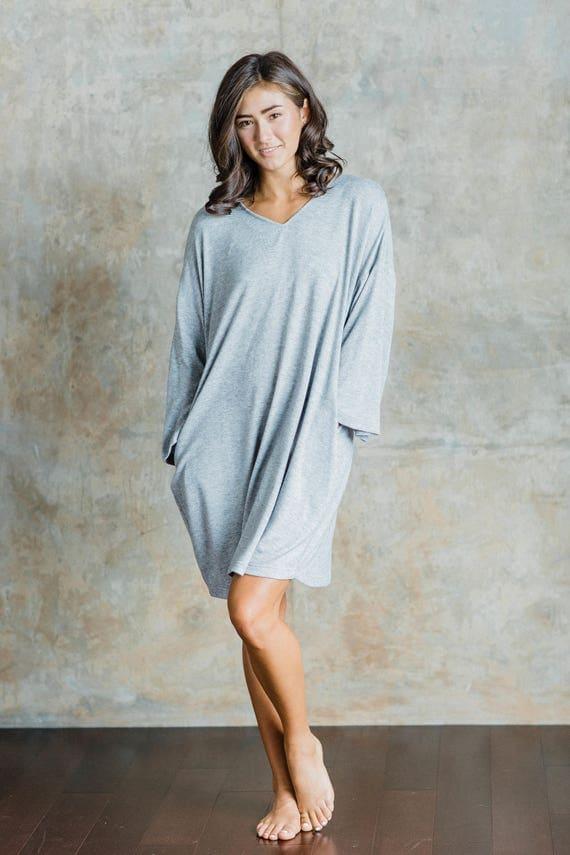 Parker Oversized Knit Cozy Sweater Dress with side pockets