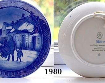 Vintage Royal Copenhagen Christmas Plates. 1980-1987. Kongelig Porcelæn. Danish Tradition Heirloom. Made in Denmark. Collectors Item.