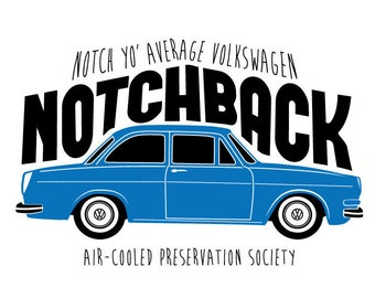 VW Notchback Type 3 T-Shirt